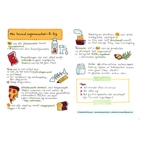 Sketchnote infographic The honest supermarket