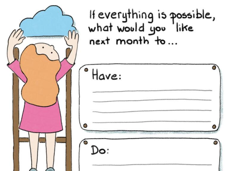 Sketchnote: hoe je wildste dromen realiseren