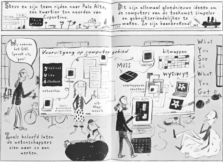 Spread graphic novel Steve Jobs