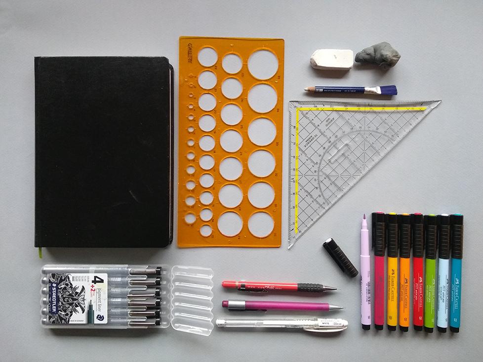 Sketchnoting welk materiaal nodig